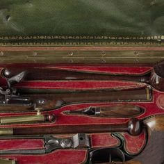 A Cased Pair of Pistols, Reputedly Owned by Napoleon, Perin Le Page, c. 1813 - c. 1815 - Rijksmuseum