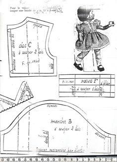 Patron poupée Modes et Travaux novembre 1960