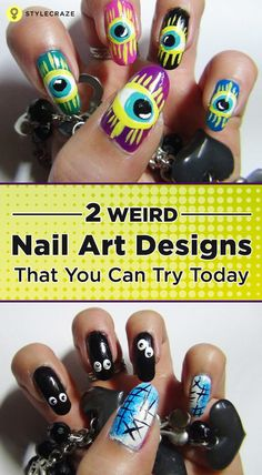 A multi coloured nail art design which you can wear with different coloured outfits. This will take some time to create but will turn out to be quite fun. Click to know more