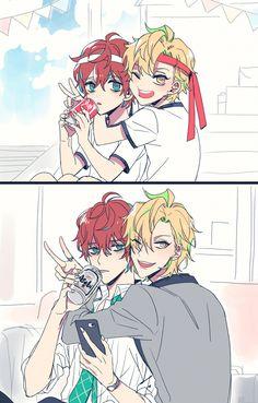 Doppo and Hifumi Anime Boys, Chica Anime Manga, Cute Anime Boy, Manga Boy, Cute Anime Couples, Anime Art, Mc Lb, Ecchi, Rap Battle