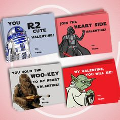 Printable Star Wars Valentine Cards, only $5!