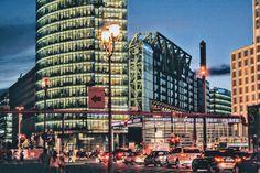 #berlin #potsdamer #platz #plac #noc #wieczór #miasto #architektura #zwiedzanie