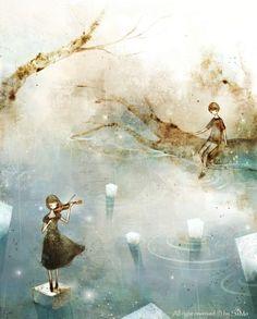 dağların yüzü kadar eskiydi  şarkısı ölü çocukların   kurşun geçirmez dizeler gibi  göz bebekleri iri ve mavi   ne şiirler akıyor yatağına  ne de zaman   hangi denize baksam  balıkçılar daha mahir   kalansa  kalbinde cevahir  şarkısı ölü çocukların  Halim Yazıcı