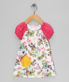 Take a look at this Pink Madame Butterfly Cutie-Pie Dress - Infant, Toddler & Girls on zulily today!