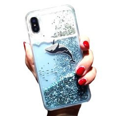 f you are a fan of whales or simply anything glittery and cute, then this iPhone case is the perfect accessory for you! Available in Apple iPhone iPhone iPhone 6 Plus, iPhone Plus, iPhone iPhone iPhone 7 Plus, iPhone 8 Plus and iPhone X Iphone 3gs, Coque Iphone, Iphone Phone Cases, Iphone Charger, Pretty Iphone 7 Cases, Iphone Ringtone, Cell Phone Covers, Cheap Phone Cases, Diy Phone Case
