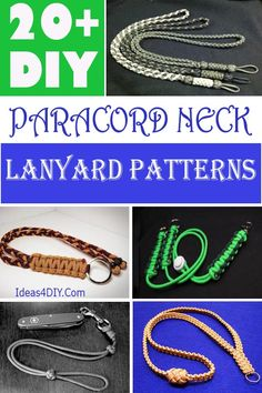 Learn How to Make DIY Paracord Neck Lanyard Patterns & Ideas with step-by-step Instructions! #ParcordProjects #ParacordNeckLanyard #DIYParacordNeckLanyard