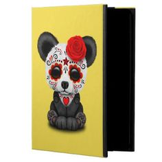 #Red Day of the Dead Panda Cub Powis iPad Air 2 Case - #halloween #party #stuff #allhalloween All Hallows' Eve All Saints' Eve #Kids & #Adaults