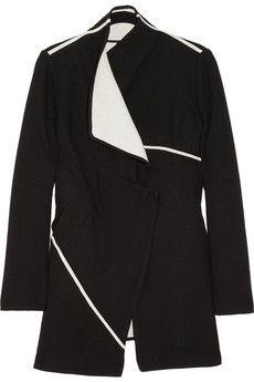 Standout!!! We love the lines... $360.04 Two-tone cotton-blend wrap coat ZERO MARIACORNEJO