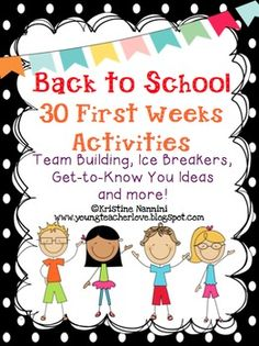 Included in this TOP SELLING pack are 30 fun beginning of the year, back to school, team building activities to bring community into your classroom! You can even use these all year long as brain breaks or filler activities! First Day Of School Activities, 1st Day Of School, Beginning Of The School Year, School 2017, School Daze, Middle School, School Classroom, Classroom Activities, Classroom Ideas
