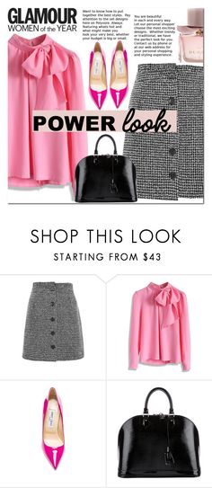 """""""#girlpower #powerlook"""" by enwa ❤ liked on Polyvore featuring Topshop, Goody, Chicwish, Jimmy Choo, Louis Vuitton, Burberry, girlpower and powerlook"""