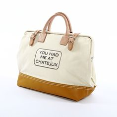 Had Me At Chateaux Bag Natural design inspiration on Fab.