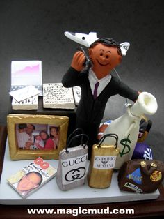 CEO's Figurine Custom made Christmas Gift Personalized for Dad by http://www.magicmud.com 1 800 231 9814 creating a custom made gift figurine for Dad based on the things he likes to do! ...incorporating his work, sports, family, hobbies, food, drink, electronic gadgets, etc. $225 #dad#men#guys#christmas#birthday#anniversary#custom#personalized#xmas#present#award#ChristmasGift##BirthdayGift#husband#boyfriend#uncle#ceo