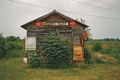 """William Christenberry's color photographs of the rural South describe the slow passage of time with plain-spoken eloquence.""""Taylor's Place, Near Greensboro, Alabama, Old General Stores, Old Country Stores, Country Life, Space Photography, Artistic Photography, Landscape Photography, William Christenberry, Arts And Crafts Storage, Vernacular Architecture"""