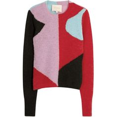 Womens Jumpers ROKSANDA Taylin Colour-block Alpaca Blend Jumper (3.605 HRK) ❤ liked on Polyvore featuring tops, sweaters, color block top, colorful sweaters, multi color sweater, multicolor sweater and multi color tops