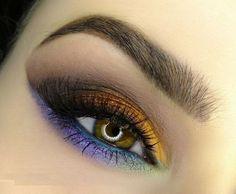 Lila, Bronze Nuancen für braune Augen