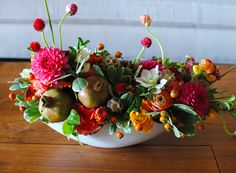 floral arrangement from Dandelion Ranch in LA (specializing in succulents)
