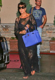 Kris Kardashian + dress