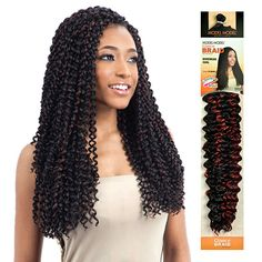 Model Model Synthetic Hair Braids Glance Bohemian Curl (Choose Your Color) Bohemian Curly Hair, Bohemian Hairstyles, Curly Weave Hairstyles, Crochet Braids Hairstyles, Black Hairstyles, Protective Hairstyles, Curly Crochet Hair Styles, Curly Hair Styles, Synthetic Lace Front Wigs