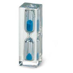 EPING Sandtimer с синего песка в прозрачной полимерного материала.