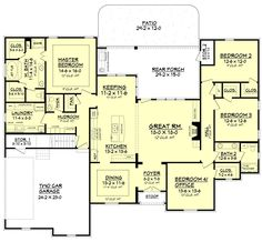 Cascade House Plan 2506 sq ft. Great floor plan.