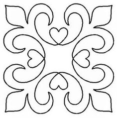 Quilt Stencil Elegance By Walner, Hari - Elegance Block continuous line stencil. Stencil is made of Mylar plastic with the displayed design cut into it. New size of stencils & Quilting Stencils, Quilting Templates, Stencil Patterns, Stencil Designs, Quilting Projects, Quilt Patterns, Embroidery Patterns, Quilting Ideas, Art Quilting