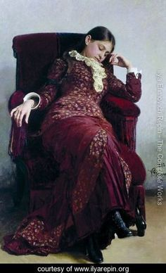 """Repin  """"Rest. Portrait of the artist's wife"""""""