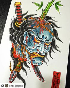 生首 - namakubi or severed head by @jinq_choi18 #japanesetattooart #japanesetattoos #newschooljapanese #japaesetattoo #traditionaljapanese #irezumi #irezumicollective #tebori #wabori #japanesetattoodesign #neojapanese #tattooartist #tattooart#artwork #art #prints #ink #inked #tattooed #tattoist #instaart #instagood #tatted #instatattoo #bodyart #tatts #tats #amazingink #tattedup #namakubi