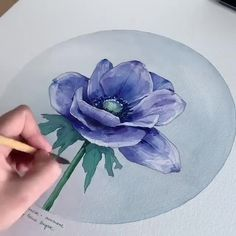 Most up-to-date Pictures drawing flowers watercolor Thoughts Bouquets are NOT easy to get! Well-executed plant pen-drawings are a hit on several web sites and for that reason provi Watercolor Video, Watercolor Painting Techniques, Watercolour Tutorials, Painting Videos, Watercolour Painting, Watercolor Flowers, Painting & Drawing, Drawing Flowers, Painting Flowers