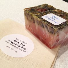 Bath Tea Soap Bar in a Bag Dried Herbs and Delicious by LeesBeesNJ