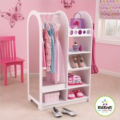 This stand alone unit could fit inside a standard closet to help make it kid friendly. Found at One-Way Furniture, just $159.