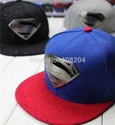 18b57ef4e7a 2014 New Fashion S Superman Hip-hop Baseball Cap Adjustable Snapback Unisex   New