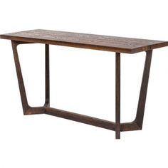 The Katem console table is a striking and stylish addition to any collection of contemporary home furnishings. It features a seared oak top that gives it a rustic, organic quality, and it is sure to transform any living space.