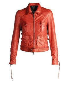 Leather jackets Women LASKY - Jackets Women on Diesel Online Store - StyleSays