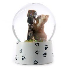 kitty snow globe