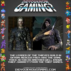 Did you know this?  The Elder Scrolls V: Skyrim via didyouknowgaming. http://www.imdb.com/name/nm1592197/
