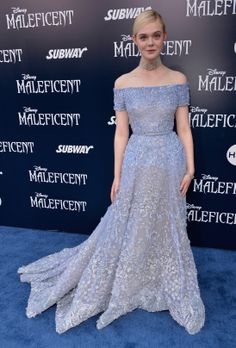 Blue carpet style from the #Maleficent world premiere.   I LOVE THIS DRESS!