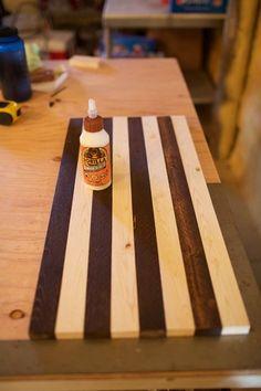 DIY Chess Board Table
