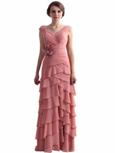 This dress comes in may colors and ships in 3 weeks.  Landybridal Floor Length Chiffon Evening Dress D12006 custom made custom color Landybridal,http://www.amazon.com/dp/B00CV3OBL8/ref=cm_sw_r_pi_dp_V6Pitb12ARRN6TEW