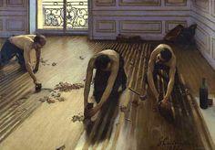 Les raboteurs de parquet, detail. Musee d'Orsay