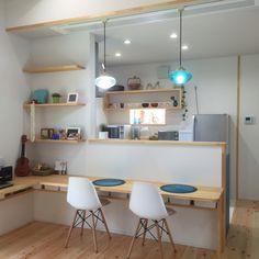 to.mo.ka.chuさんの、キッチン,キッチンカウンター,新築,平屋,注文住宅,カウンター,カウンターテーブル,のお部屋写真