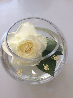 50th Wedding Anniversary centerpiece DIY                                                                                                                                                                                 More