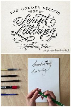 Calligraphy Classes Online - The Golden Secrets of Script Lettering - 5 More Creative Classes I Want To Take Right Now! It looks like a fabulous class. Modern script is a beautiful style of calligraphy! Crafts To Make And Sell Unique, Crafts To Sell, Mason Jar Crafts, Mason Jar Diy, Bullet Journal Font, Creative Class, Craft Desk, Paper Crafts For Kids, Dollar Store Crafts