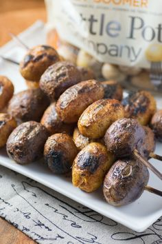 Mesquite BBQ Skewered Potatoes are a great way to celebrate grilling and summer with their smoky wonderful flavor.