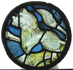 Roundel    Date:      15th century  Culture:      English  Medium:      Stained Glass  Dimensions:      Overall: 10 1/2 in. (26.7 cm)  Classification:      Glass-Stained  Credit Line:      Bequest of George D. Pratt, 1935