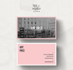 Customizable business card template Calling by TeaAndHoneyStudio