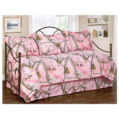 I Love Camo Bedding - Realtree AP Pink 5pc Daybed Ensemble Daybed Cover Set, $119.99 (http://www.ilovecamobedding.com/realtree-ap-pink-5pc-daybed-ensemble-daybed-cover-set/)