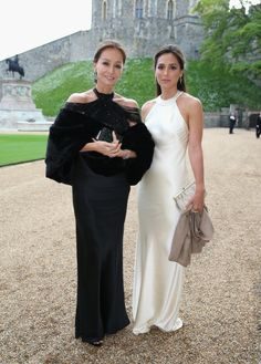 Isabel Preysler and Tamara Falco arrive for a dinner