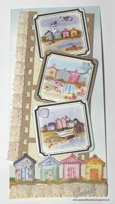 Carole Davis, Crafter's Companion, Halcyon Days Card Kit, DL Card, Mini Toppers x 3, Printed Card, Kraft Card, Parchment Paper, Embossalicious - 8x8 Knit One Pearl One