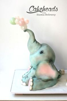 Full, step by step video tutorial on how to make this structured elephant cake and how to blow sugar bubbles, on Cakeheads.com!