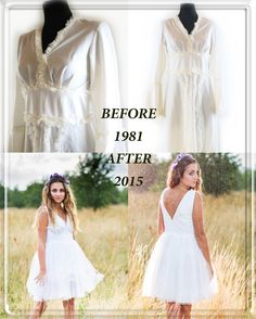 https://www.facebook.com/sekufashion DRESS MAKEOVER  #weddingdress #vintagedress #makeover #newdress
